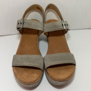 CLARKS WEDGES SUEDE AISLEY ORCHID